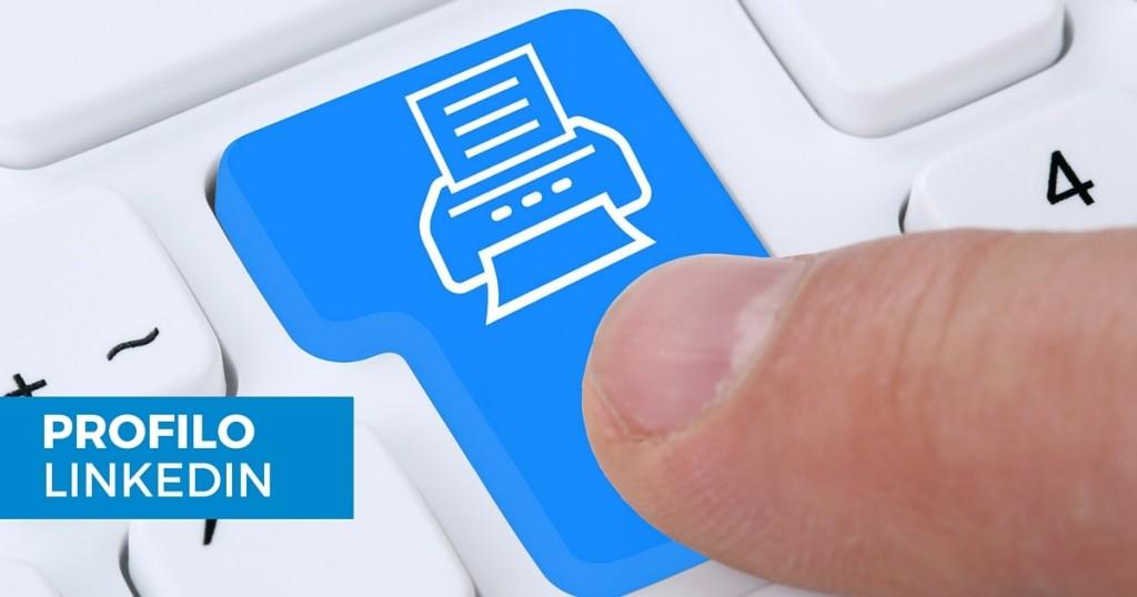 Come salvare in PDF il profilo di un utente LinkedIn-min