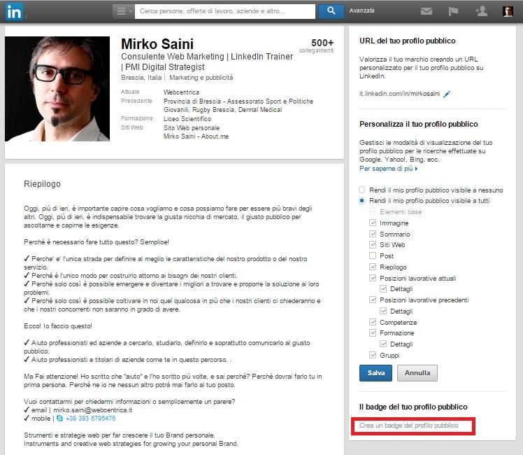 Profilo 06 - come creare un badge per il tuo profilo pubblico 02 OK-min