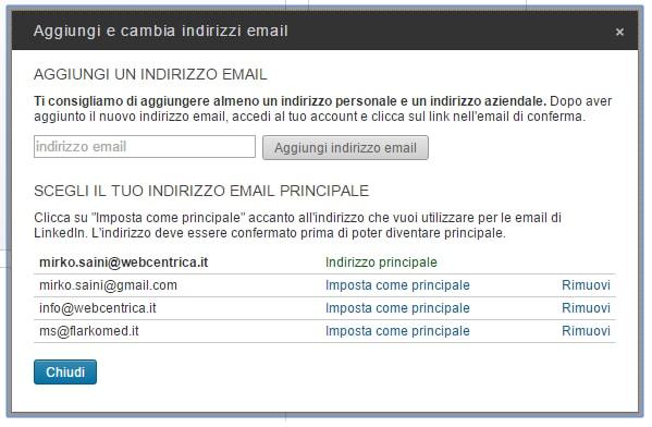 Profilo 09 - Come aggiungere o cambiare un indirizzo di posta elettronica 02-min