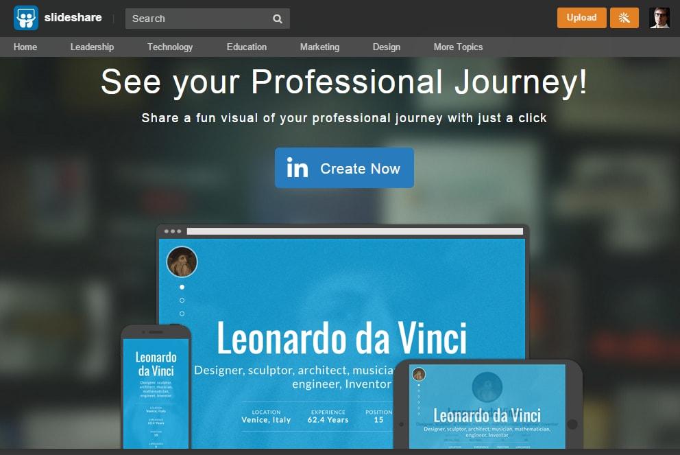 Profilo 13 - come trasformare il profilo in infografica o site onepage 01 min