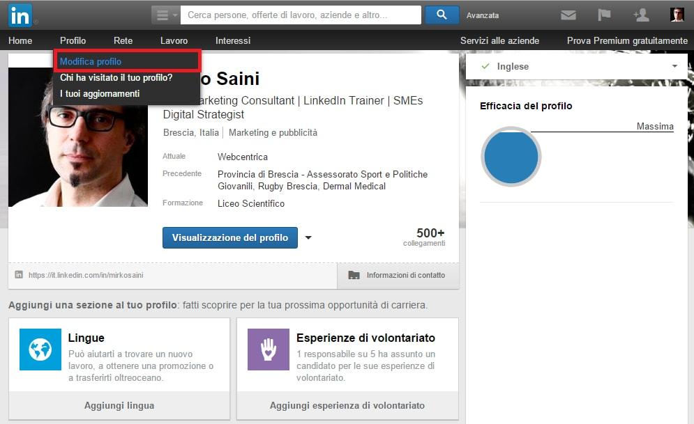 Come riorganizzare le sezioni del tuo profilo LinkedIn